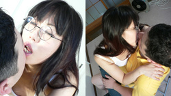 On the verge of heatstroke glasses beauty Nana-chan's Kiss Super harsh!! Thick kissing deep Kiss mania