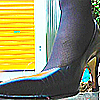 "164 cm / 44 kg see tall slender ladies' revival! Trampling upon raw tights with boots and pumps filled with ""sense of shoes""!"